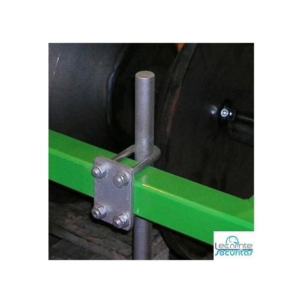 Etrier de fixation pour tube et tuyau - Fixation tole ondulee galvanisee ...